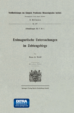 Erdmagnetische Untersuchungen im Zobtengebirge von Wolff,  Hans G