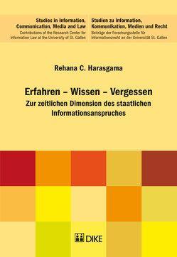 Erfahren – Wissen – Vergessen von Harasgama,  Rehana C.