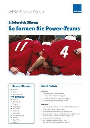 So formen Sie Power-Teams von Rado Läubli,  Sue, Rado,  Rolf P.