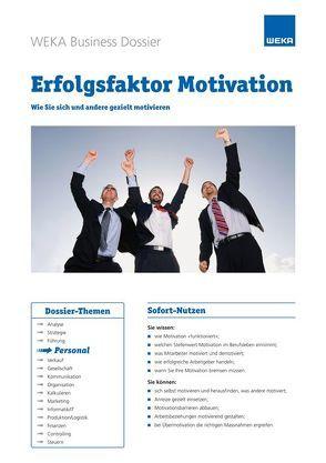 Erfolgsfaktor Motivation von Hintermann,  Julia