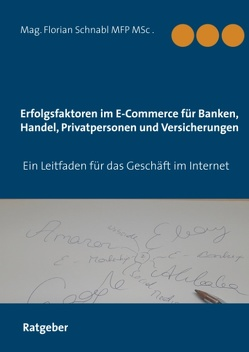 Erfolgsfaktoren im E-Commerce für Banken, Handel, Privatpersonen und Versicherungen von Schnabl,  Florian