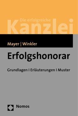 Erfolgshonorar von Mayer,  Hans-Jochem, Winkler,  Klaus