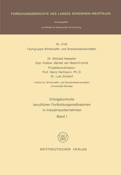 Erfolgskontrolle beruflicher Fortbildungsmaßnahmen in Industrieunternehmen von Hesseler,  Michael