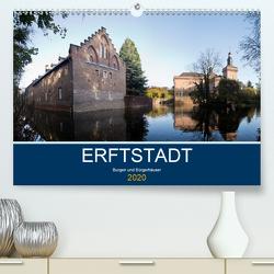 ERFTSTADT – Burgen und Bürgerhäuser (Premium, hochwertiger DIN A2 Wandkalender 2020, Kunstdruck in Hochglanz) von boeTtchEr,  U