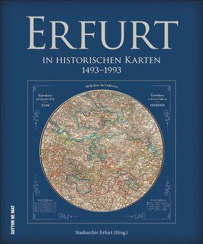 Erfurt in historischen Karten