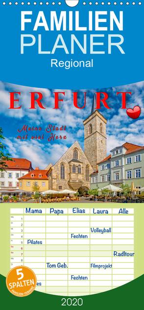 Erfurt – meine Stadt mit viel Herz – Familienplaner hoch (Wandkalender 2020 , 21 cm x 45 cm, hoch) von Roder,  Peter
