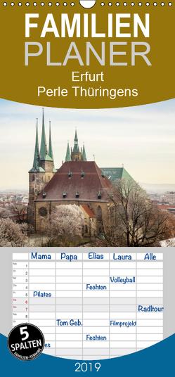 Erfurt. Perle Thüringens. – Familienplaner hoch (Wandkalender 2019 , 21 cm x 45 cm, hoch) von Seethaler,  Thomas