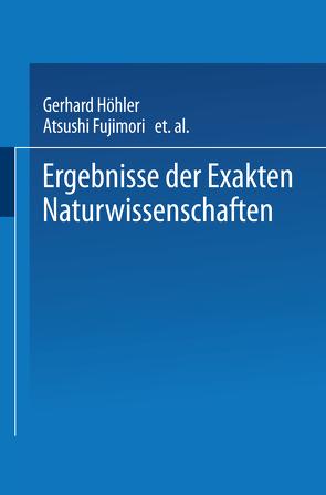 Ergebnisse der Exakten Naturwissenschaften von »Naturwissenschaften«,  Schriftleitung der