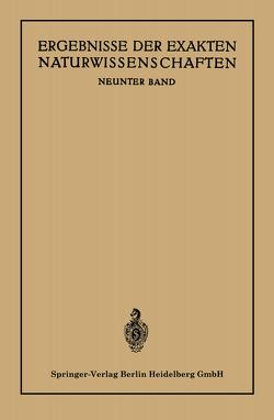 Ergebnisse der Exakten Naturwissenschaften von Bartels,  August Julius