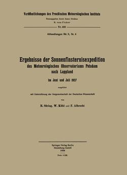 Ergebnisse der Sonnenfinsternisexpedition von Albrecht,  Fritz, Kühl,  Wilhelm, Süring,  Reinhard