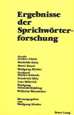 Ergebnisse der Sprichwörterforschung von Mieder,  Wolfgang