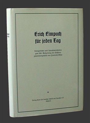 Erich Limpach für jeden Tag von Witte,  Friedrich