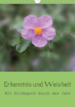 Erkenntnis und Weisheit – Hildegard von Bingen (Wandkalender 2018 DIN A4 hoch) von Bergmann,  Christine