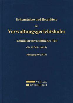 Erkenntnisse und Beschlüsse des Verwaltungsgerichtshofes von Bumberger,  Leopold