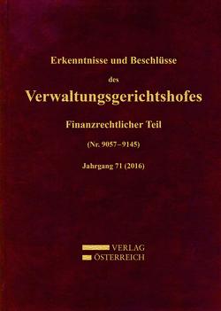 Erkenntnisse und Beschlüsse des Verwaltungsgerichtshofes von Fuchs,  Josef, Zorn,  Nikolaus