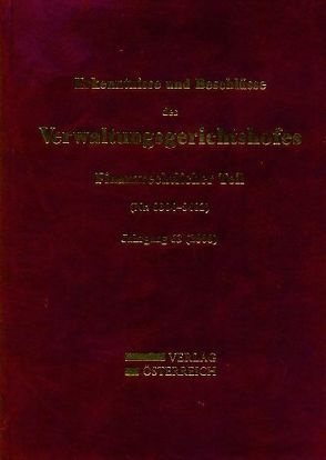 Erkenntnisse und Beschlüsse des Verwaltungsgsgerichtshofes von Fuchs,  Josef, Zorn,  Nikolaus