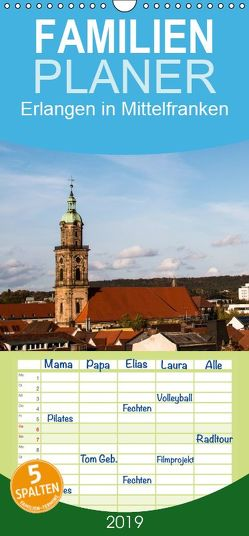 Erlangen in Mittelfranken – Familienplaner hoch (Wandkalender 2019 , 21 cm x 45 cm, hoch) von Kulla,  Alexander