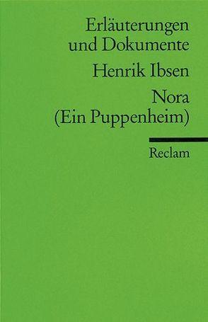 Erläuterungen und Dokumente zu Henrik Ibsen: Nora von Keel,  Aldo