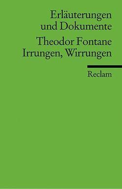 Erläuterungen und Dokumente zu Theodor Fontane: Irrungen Wirrungen von Betz,  Frederick