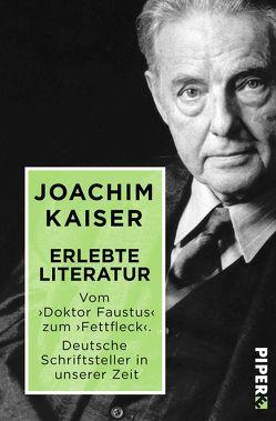 Erlebte Literatur von Kaiser,  Joachim