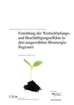 Ermittlung der Wertschöpfungs- und Beschäftigungseffekte in drei ausgewählten Bioenergie-Regionen von Aretz,  Astrid, Heinbach,  Katharina, Rupp,  Johannes, Schröder,  André