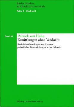 Ermittlungen ohne Verdacht von von Hahn,  Patrick