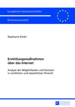 Ermittlungsmaßnahmen über das Internet von Rebell,  Stephanie