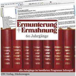 Ermunterung und Ermahnung von Christliche Schriftenverbreitung,  e.V.