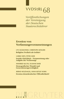 Erosion von Verfassungsvoraussetzungen von Axer,  Peter, Davy,  Ulrike, et al., Möllers,  Christoph, Sacksofsky,  Ute