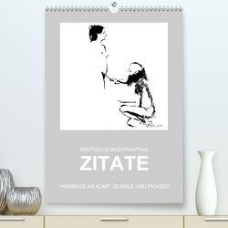 EROTISCHE BODYPAINTING ZITATE – HOMMAGE AN KLIMT, SCHIELE UND PICASSO (Premium, hochwertiger DIN A2 Wandkalender 2020, Kunstdruck in Hochglanz) von fru.ch