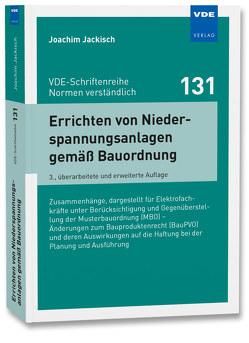 Errichten von Niederspannungsanlagen gemäß Bauordnung von Jackisch,  Joachim