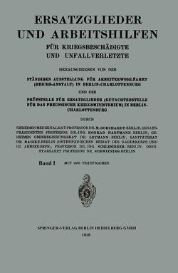 Ersatzglieder und Arbeitshilfen von Borchardt,  Moritz, Hartmann,  Konrad, Leymann,  Radike, Schlesinger,  Schwiening