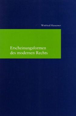 Erscheinungsformen des modernen Rechts von Hassemer,  Winfried