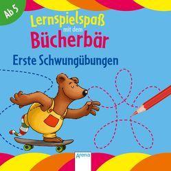 Erste Schwungübungen. Lernspielspaß mit dem Bücherbär von Bertrand,  Fréderic, Reimers,  Silke