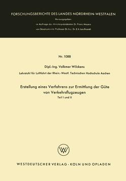 Erstellung eines Verfahrens zur Ermittlung der Güte von Verkehrsflugzeugen von Wilckens,  Volkmar
