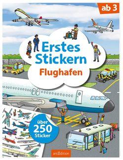 Erstes Stickern Flughafen von Coenen,  Sebastian