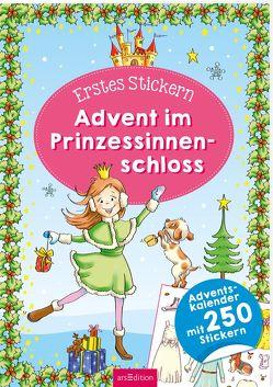 Erstes Stickern für den Advent. Weihnachtszeit im Prinzessinnenschloss von Theissen,  Petra