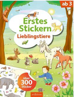 Erstes Stickern Lieblingstiere von Theissen,  Petra