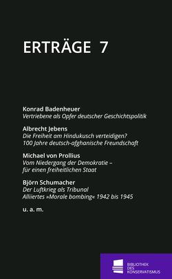 Erträge von Badenheuer,  Konrad, Jebens,  Albrecht, Schumacher,  Björn, Seidel,  Peter, von Prollius,  Michael, Waßner,  Rainer