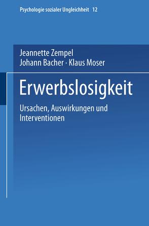 Erwerbslosigkeit von Bacher,  Johann, Moser,  Klaus, Zempel,  Jeannette