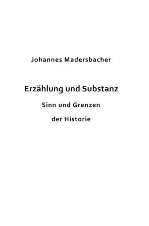 Erzählung und Substanz von Madersbacher,  Johannes