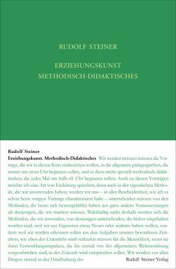 Erziehungskunst. Methodisch-Didaktisches von Rudolf Steiner Nachlassverwaltung, Steiner,  Rudolf, Urs,  Dietler