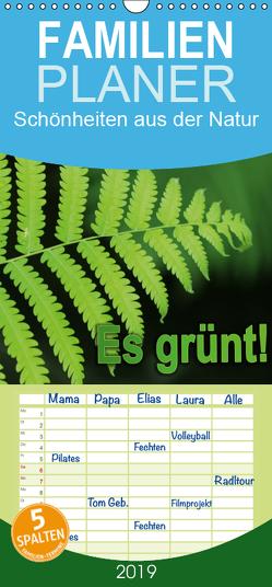 Es grünt! – Familienplaner hoch (Wandkalender 2019 , 21 cm x 45 cm, hoch) von GbR,  Kunstmotivation, Wilson,  Cristina