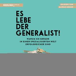 Es lebe der Generalist! von Böker,  Markus, Epstein,  David