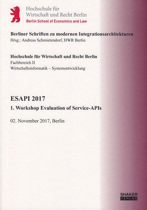 ESAPI 2017 von Schmietendorf,  Andreas