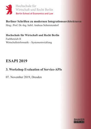 ESAPI 2019 von Schmietendorf,  Andreas, Wiedemann,  Thomas
