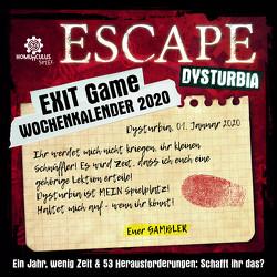 EXIT-Game-Wochenkalender 2020 von Ernst,  Joseph Felix, Frenzel,  Sebastian, Jacobi,  Laura, Krömer,  Philip, Meinke,  Michael