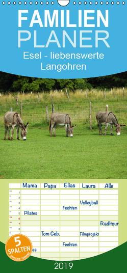 Esel – liebenswerte Langohren – Familienplaner hoch (Wandkalender 2019 , 21 cm x 45 cm, hoch) von Hutterer,  Christine