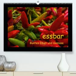essbar – Buntes Obst und Gemüse (Premium, hochwertiger DIN A2 Wandkalender 2021, Kunstdruck in Hochglanz) von Goerz,  Beate