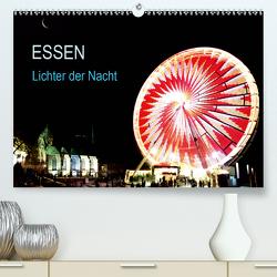 Essen Lichter der Nacht (Premium, hochwertiger DIN A2 Wandkalender 2021, Kunstdruck in Hochglanz) von Joecks,  Armin